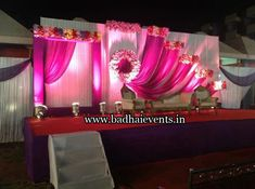 Picture from Badhai Wedding Planners Photo Gallery on WedMeGood. Browse more such photos & get inspiration for your wedding Engagement Stage Decoration, Wedding Reception Backdrop, Simple Wedding Decorations, Wedding Entrance, Wedding Wall, Wedding Simple, Backdrop Decorations, Simple Weddings, Reception Decorations