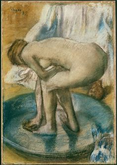 Edgar Degas: Woman at her Toilette, c. 1885-1895. - Google Search
