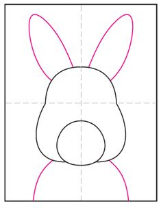 Learn how to draw a bunny face, and then turn it into a line drawing project. Lots of skinny lines will add a kind of furry texture. Easter Drawings, Doodle Drawings, Drawing For Kids, Art For Kids, Projects For Kids, Art Projects, Easter Arts And Crafts, 3rd Grade Art, Bunny Face