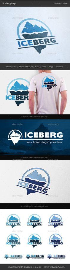 Iceberg - Logo Design Template Vector #logotype Download it here: http://graphicriver.net/item/iceberg-logo/13906334?s_rank=293?ref=nesto