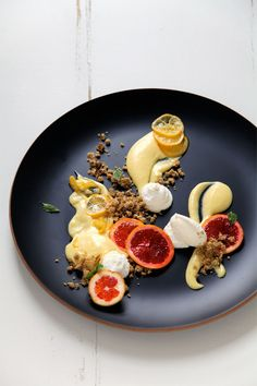 Deconstructed Meyer Lemon, Ricotta Cheese Tart