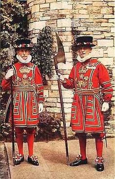 London England UK 1908 Chief Warder Yeoman Gaoler Antique Vintage Postcard