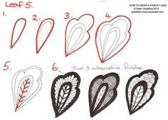 How to draw Paisley Leaf 05 by Quaddles-Roost on DeviantArt