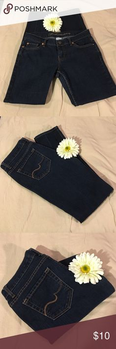 Medium Dark Wash Straight Leg Jeans Size 9 Petite. Medium Dark Wash No Boundaries Size 9 Petite. Straight Leg Stretch. No Boundaries Jeans Straight Leg