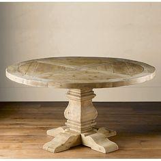Restoration Hardware Salvaged Wood Trestle Round Table