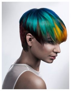 Goldwell Announces 2013 Color Zoom Challenge US Semi-Finalists Love it. Reminds me of the Rainforest!