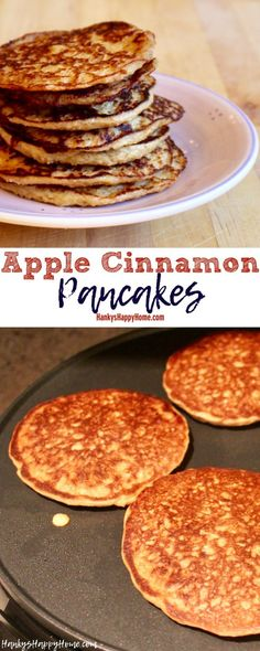 These Apple Cinnamon Pancakes are perfect for babies ready to take on finger foods!