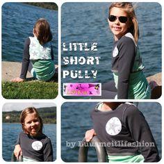 Little Short Pully Linkim Freebook ♥ Luusmeitlifashion ♥ Nähen DIY http://muggelchens-kuschelwear.blogspot.ch/2015/09/maxi-stars.html Schnittmuster kostenloses Schnittmuster