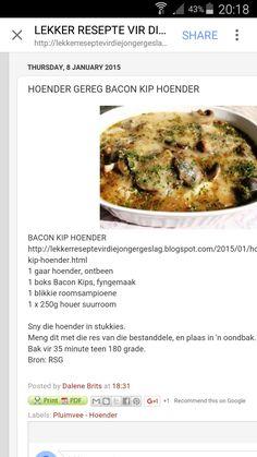 Bacon Kip Hoender