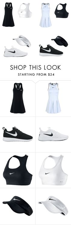"""""""Black and White Tennis"""" by hman-granger ❤ liked on Polyvore featuring NIKE, dress, nike and tennis"""