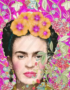 Frida Kahlo Digital Collage Instant Download Scrapbooking