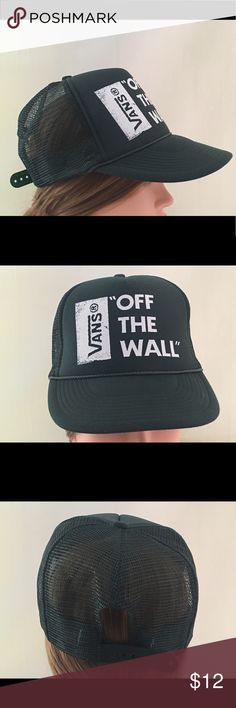 Vans hunter green trucker hat Barely used condition. No staining or sweat stains. Vans Accessories Hats