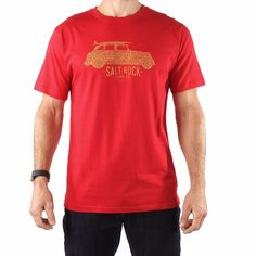 cbfc406dd4a8 Retro Van - Men's Saltrock T-shirt - Red Vans T Shirt, Summer Design