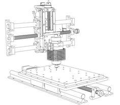 CNC Milling Machine II 雕刻机 - SOLIDWORKS,SOLIDWORKS - 3D CAD model - GrabCAD