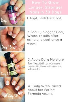 Beauty blogger Cody Wren shares how to grow longer, stronger nails with Perfect Formulas nail treatments.