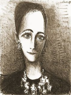 Pablo Picasso, 1964 Portrait de Mademoiselle Rosengart on ArtStack Desenhos Pablo Picasso, Pablo Picasso Drawings, Kunst Picasso, Art Picasso, Spanish Painters, Spanish Artists, Pablo Picasso Zeichnungen, Cubist Movement, Renaissance