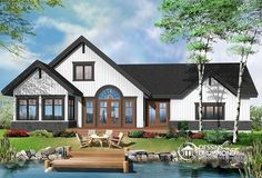 Full technical sheet and illustration of our house plan, garage plan, shed plan or playhouse. Various categories and house plans available for any budget. Lake House Plans, Bungalow House Plans, Craftsman Style House Plans, Cottage House Plans, Cabin Plans, Cottage Homes, House Floor Plans, Maine Cottage, Cottage Ideas