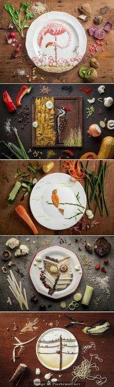 Food Art by Anna Keville Joyce via Fubiz