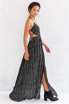 Ecote Strappy Back Safari Maxi Dress #UrbanOutfitters