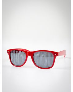 'Fuck You' Red Wayfarer Sunglasses