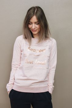 """Support Your Local college - pink/rose gold « INCH"""" verkkokauppa"""