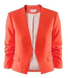 color naranja tangerine orange moda fashion chaqueta jacket miraquechulo