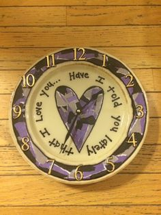 HEART DESIGN decoupage clocks made from recycled plates by crazyclocklady on Etsy https://www.etsy.com/listing/222761700/heart-design-decoupage-clocks-made-from