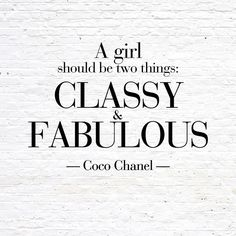 Coco Chanel Quote for the Apartment