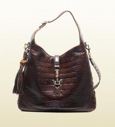 Gucci  jackie crocodile shoulder bag