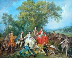 Picnic after the Hunt, 1740 by Nicolas Lancret (1690-1743)