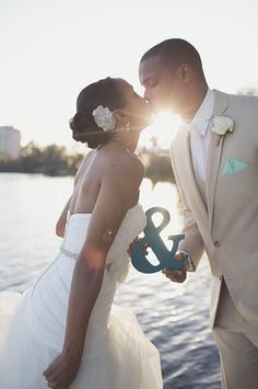 Michael and Addie's turquoise DIY wedding is a must see! Image: Anchor and Ivory Photography