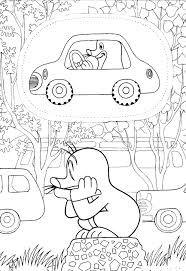 Výsledek obrázku pro omaľovánky krtek Coloring Sheets, Coloring Books, Coloring Pages, Quiet Book Templates, Mole, Free Printables, Origami, Kindergarten, Language