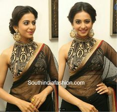 Image result for halter neck blouse saree
