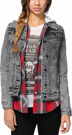 Lira Girls Wild One Aztec Acid Wash Denim Jacket at Zumiez : PDP