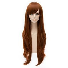 80cm Women's Long Curly Fashion Party Cosplay Wig + Wig Cap