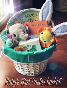 25 great easter basket ideas easter easter baskets and swings babys first easter basket as the speerit moves you negle Image collections