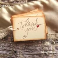 Vintage Thank You Tags with Red Shimmery Hearts - Sweetly Scrapped