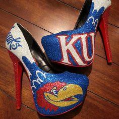 Kansas Jayhawks Custom Heels by Akkustomz on Etsy, $180.00