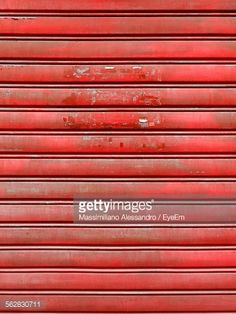 #Full #Frame #Shot Of #Red #Corrugated #Iron