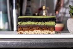 I'm in love with Sadaharu Aoki's Matcha Azuki, a classic French entremet with a Japanese twist: delicious layers of matcha mousse, dark chocolate genoise, adzuki beans, and a crispy-crunchy praline base. I tried to recreate it and it turned out delicious!