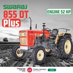 Swaraj 855 DT Plus में है 3Cylinder और 52HP का Engine. और साथ में है 1700 kg. की Lifting Capacity.#TractorJunction#loan #price #Specifications #Agriculture #Swaraj New Holland Tractor, Tractors