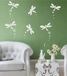 Hey, I found this really awesome Etsy listing at http://www.etsy.com/listing/97920362/dragonflies-set-of-6-wall-decal-vinyl