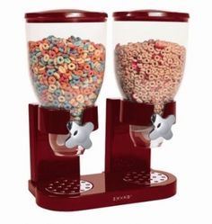 Double Dry Food Dispenser - Red