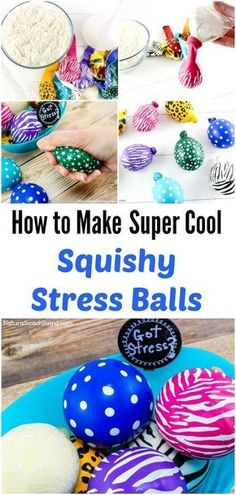 DIY Make Stress Balls Kids Will Love, Super cool squeeze balls, great for anxiety in kids & adults, help with Fidgeting, Easy to make, sensory balls