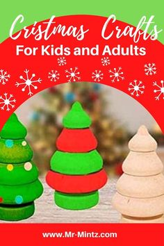Painted wooden craft projects can be displayed as an ornament for Christmas. It's also a good gift for friends, kids, and family. Preschool Christmas Crafts, Christmas Art Projects, Christmas Crafts For Kids To Make, Christmas Activities For Kids, Toddler Christmas, Free Christmas Printables, Easy Crafts For Kids, Craft Activities For Kids, Toddler Crafts