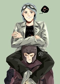 Quicksilver and his dad Magneto<----- I have no idea who they are or why I am putting them on this board, but I am pinning this for some random reason.