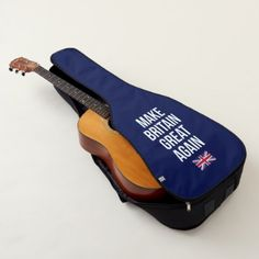 Make Britain Great Again UK First Flag Brexit Guitar Case  $69.45  by Kekistan  - custom gift idea