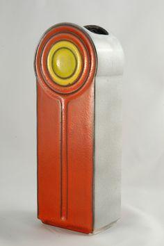 Cari Zalloni; Glazed Ceramic Vase, 1970s.