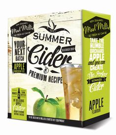 Apple cider replacement kits. Providing you with everything you need to make your next batch of Apple Cider. ABV: approx. 5.2% for only $39.90