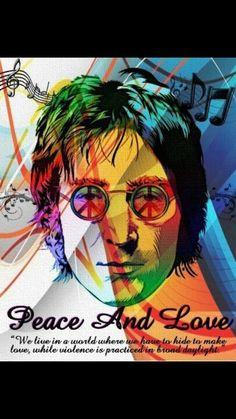 Lennon - peace and love.